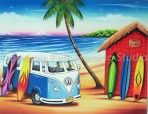 Bali surf shack with Kombi