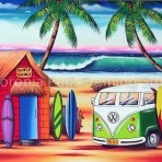 Bali surf shack and Kombi